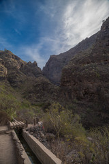 Beautiful landscapes of Barranco del Infierno in Tenerife. Canary islands, Spain