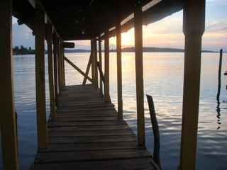 Dock at sunrise