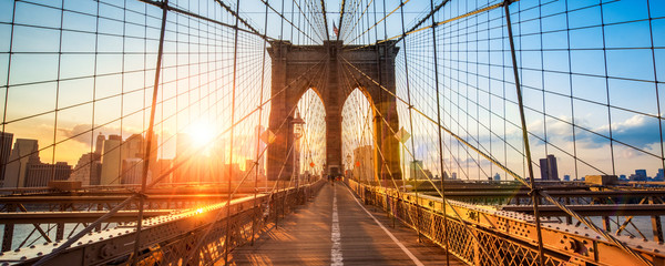 Printed roller blinds Brooklyn Bridge New York Brooklyn Bridge Panorama