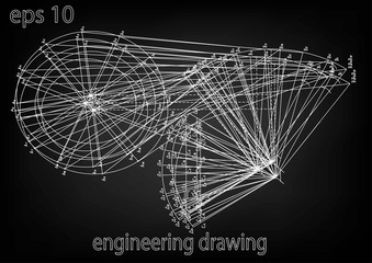 engineering drawing, technology, science, education, engineering graphics, study