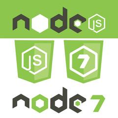 Wall Mural - nodejs framework shield