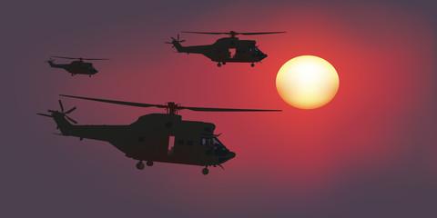 Hélicoptère - Escadrille