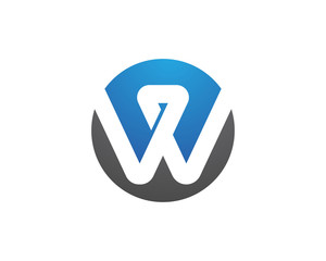 W Letter Logo Business professional logo template