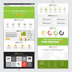 Web Page Vertical Design Set