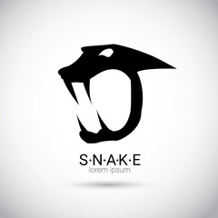 vector snake simple black logo design element.