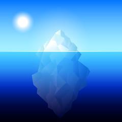 iceberg Antarctica illustration
