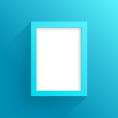 Vector Blue Frame Design With White Background