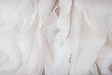 Wedding dress fabric close up