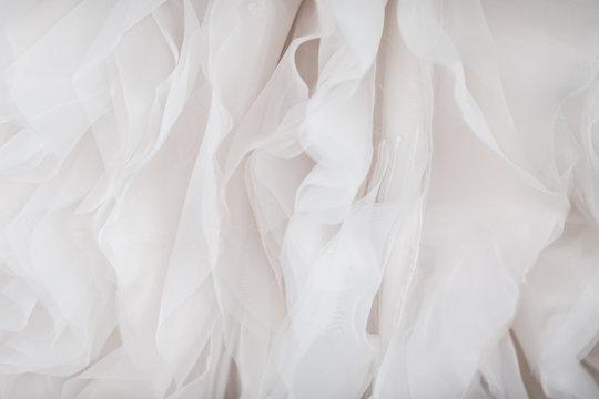 Wedding dress fabric close up