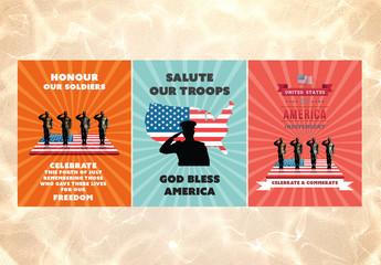 American Posters Set