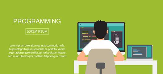 programming coding, programming banner