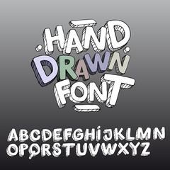 Funny Hand Drawn Kids Comic Cartoon Font