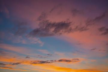 the multi-colored sky