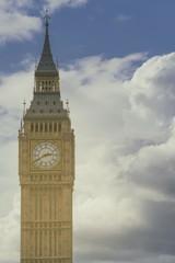 Big Ben against cloudy sky, London, United Kingdom