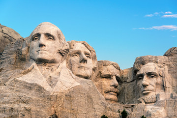 Poster Historical buildings Mount Rushmore Closeup