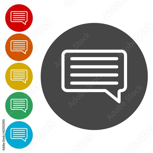 Instagram Comment Icon Vector Message Sign Post Symbol Stock