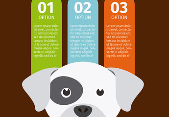 Bulldog Face Illustration Element Dog and Pet Care Infographic