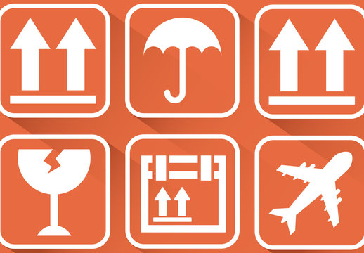 9 Shipping and Delivery Pictogram Icons