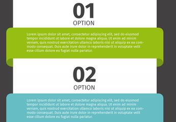 Horizontal Numbered Tab Multipurpose Infographic 2