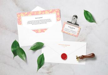 Letterhead and Card Mockup