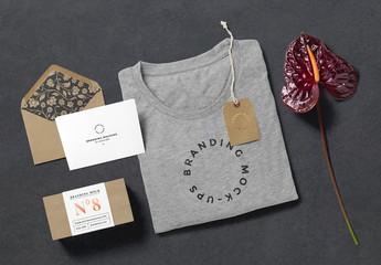 T-Shirt and Gift Mockup