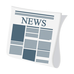 news paper information isolated icon vector illustration design
