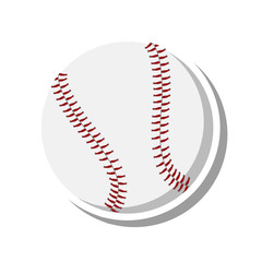baseball ball sport isolated icon vector illustration design