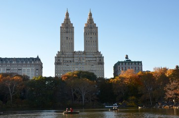Central Park in the autumn, Manhattan, New York, USA.