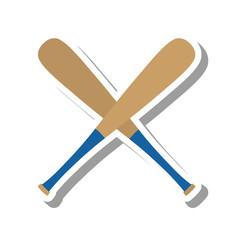 baseball bat equipment icon vector illustration design