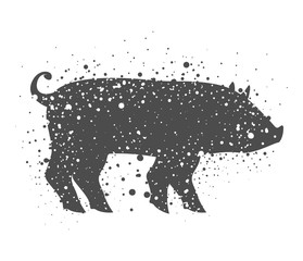 Pork icon. Animal life nature and fauna theme. Isolated design. Vector illustration