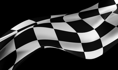 racing flag on black