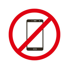 No phone use icon vector sign