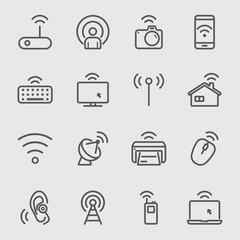 Wireless technology line icon