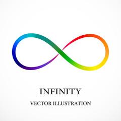 Contour rainbow infinity symbol