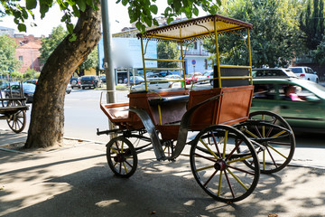 An old wooden cart for transport
