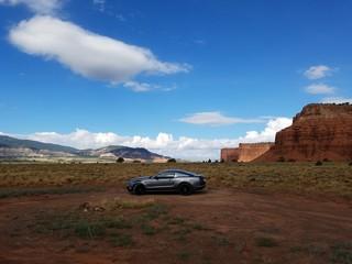 Sports Car in the Desert