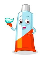 Toothpaste Mascot Vector Illustration
