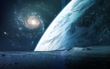 Wall Mural - Abstract scientific background - planets in space, nebula and stars. Elements of this image furnished by NASA nasa.gov