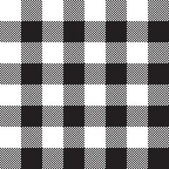 Black white check pattern seamless fabric texture