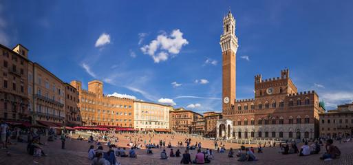 Piazza del Campo in Siena, Italien