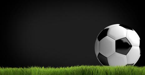 football soccer 3 render football ball soccer grass