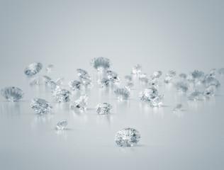 Diamonds close up