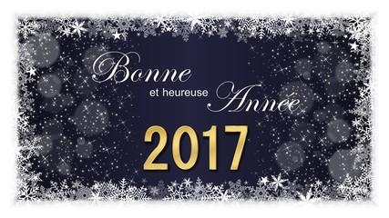 Carte de vœux. Bonne et heureuse Année (bn)