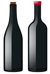 Two bottles in black color