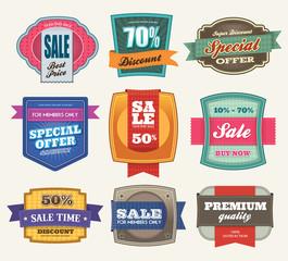 Set of Premium Sale Labels
