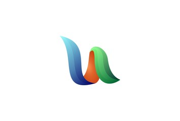 Colorful Vector Logo Design. Icon Concept. Abstract Ribbons