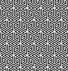 Vector seamless pattern. Modern stylish texture. Repeating geometric pattern with hexagonal tiles.