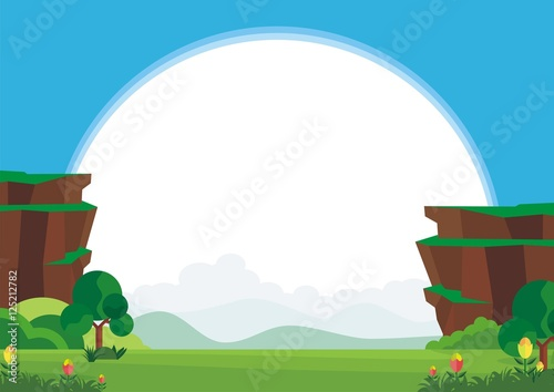 "Blank Kid Diploma with Natural Scenery Background"" Stock image and ..."