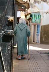 on streets of the old city in Morokko