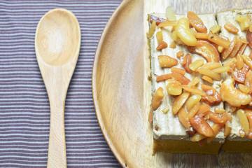 peanut and cashew nut cake
